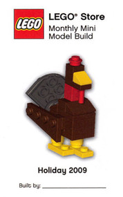 Lego Mini Model Thanksgiving Turkey Parts & Instructions