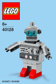 LEGO Toy Robot Mini Build Parts & Instructions Kit