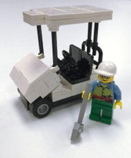 White Golf Cart & Golfer - LEGO Parts & Instructions Kit