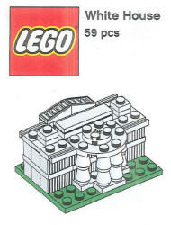 LEGO White House Mini Build Parts & Instructions - LEGO Monuments Roadshow