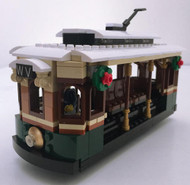 Winter Village Tram - Lego™ Parts & Instructions Kit with Light Brick