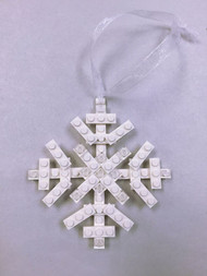 Custom Lego® Christmas Holiday Ornament - White Snowflake