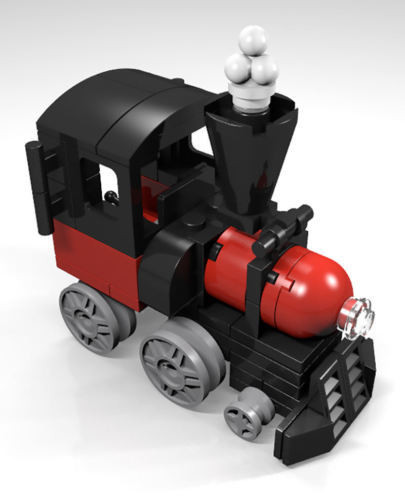 Constructibles Train Engine Mini Model Lego Parts Instructions