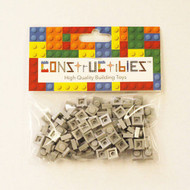 Constructibles® x100 Light Bluish Gray 1x1 Plates 3024 - LEGO® Bulk Parts