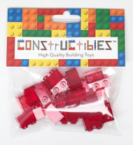 Constructibles® x25 Transparent Red 1x2 Bricks 3004 3065 - LEGO® Bulk Parts