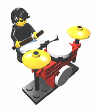 Constructibles Drummer and Drum Kit - LEGO® Parts & Instructions Kit