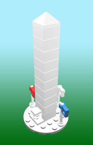 Constructibles Washington Monument LEGO® Parts & Instructions Kit