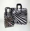 plastic Shopper W/Zebra Print Design