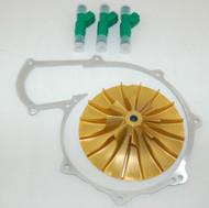 Engine-Tech ET127 +3MM Supercharger Impeller 42lb Injectors SeaDoo RXP RXT 215 (ET127+3MM/42-INJ)