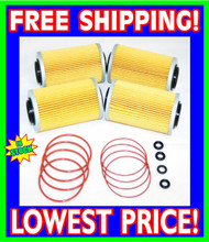 4 Sea Doo 4-TEC Oil Filters & O-Ring Kits RXP RXT GTX GTI RXP-X RXT-X 2002-2012 (006-560-(4)- Rings)