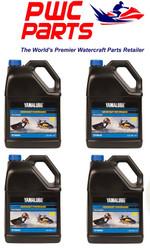 Yamaha LUB-2STRK-W1-04 Yamalube 2W Watercraft 2-stroke Oil Case of 4 Gallons
