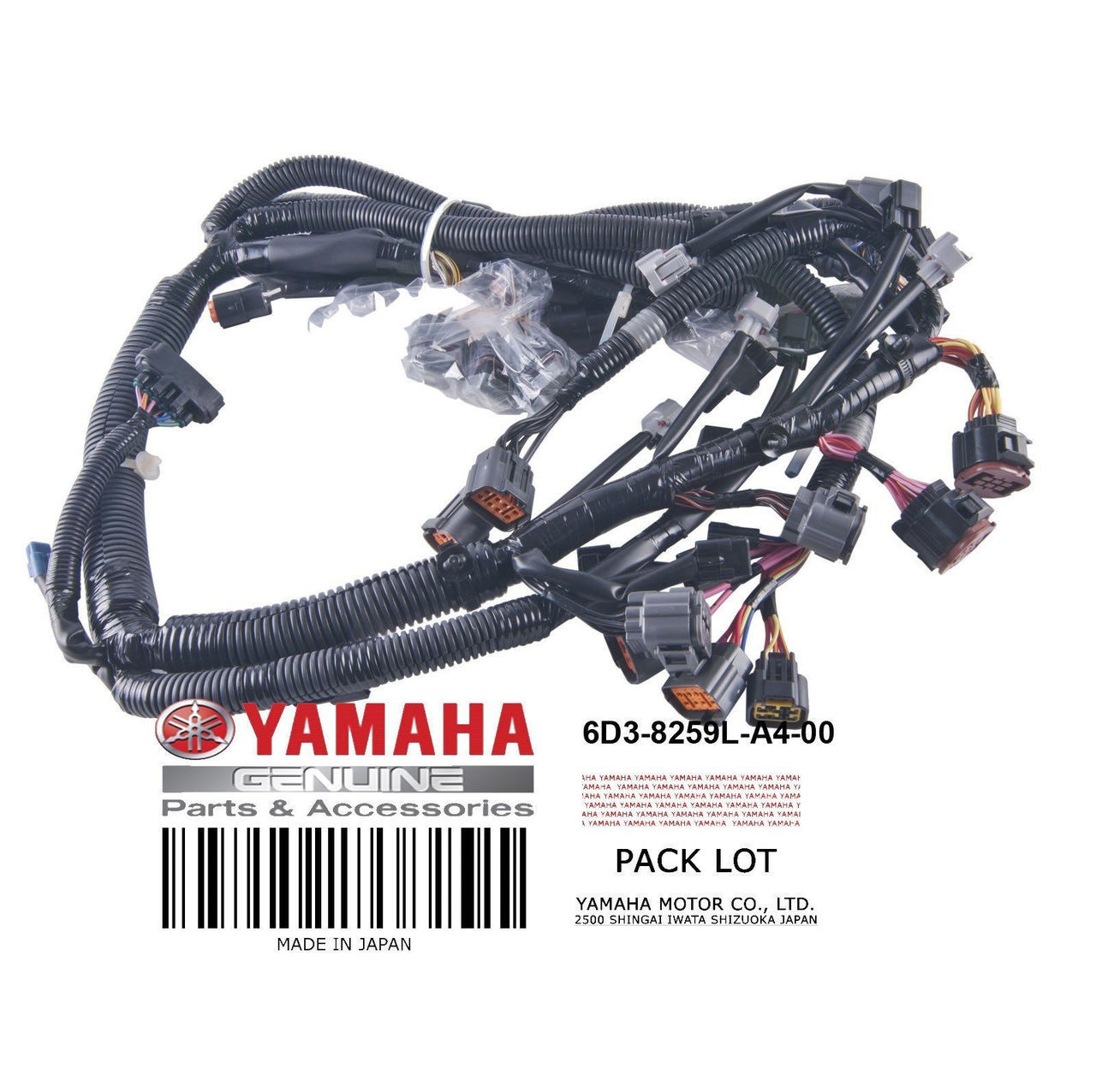 YAMAHA OEM Wire Harness Assembly 6D3-8259L-A4-00 2005-2009 VX Deluxe Sport  Cruiser PWC