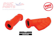 SeaDoo OEM RED Handle Grip Set Palm Rest Left & RIght 295100708