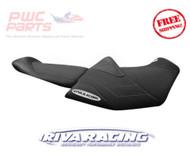 SeaDoo 2018 RXT-X 300 RIVA Racing Seat Cover Black Grey Stitch RS5-120-2