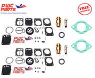 SeaDoo DUAL MIKUNI Carburetor Rebuild Kit & Needle Seat & Carb Gasket 1996-97 XP