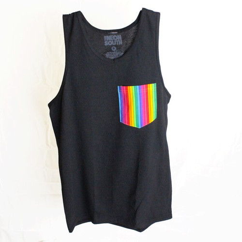 Gay Pride Rainbow Tank Top Black