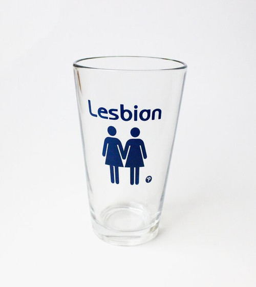 Lesbian Pint Glass