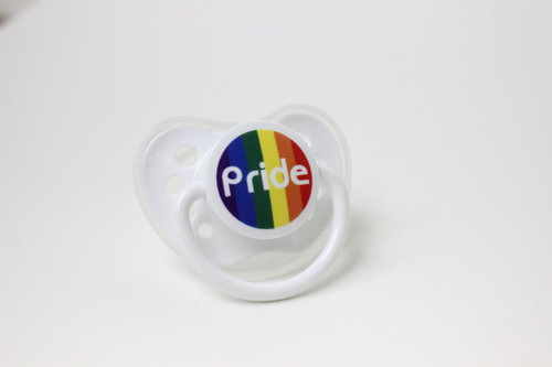 Gay Pride Rainbow Baby Pacifier