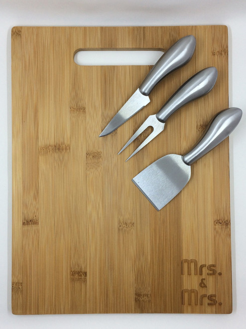 Mrs. & Mrs. Cutting Board & Knives