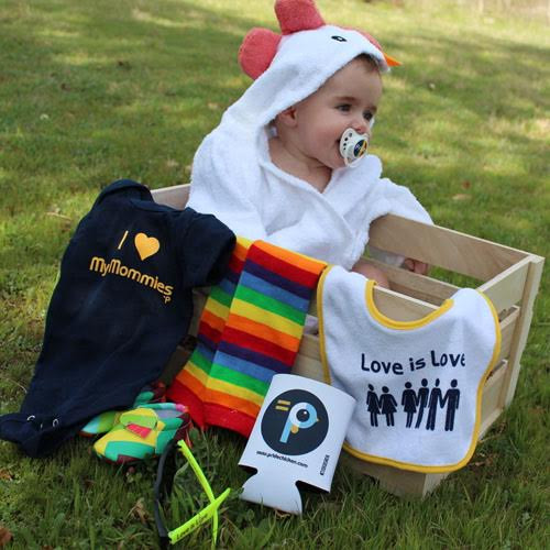 Lesbian Moms & Lesbian Parents Baby Gift Box Crate