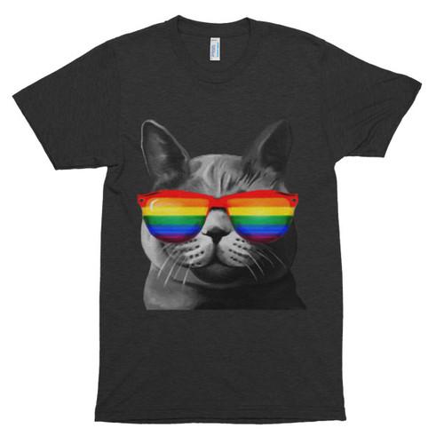 Lesbian Pride Cat T-Shirt Unisex