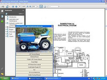 Ford lawn n garden tractor service owners n parts manuals 80 - 140 n LGT
