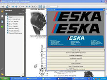 Service manual for vintage eska outboard motors 46 pages cover 1 and 2 cylinder 1.2 to 15 HP 1965 - 1985