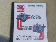 Ford 302 351 marine industrial engine  factory  service manual download