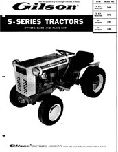 Gilson S series tractor owners guide & parts manual  manual download