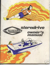 Glastron boat 1970 s stern drive  owners manual  manual on a CD 45 scanned pages  Glastron boat 1970 s stern drive owners manual manual