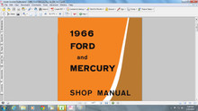 Ford Mercury 1966 factory service repair shop manual mustang comet fairlane falcon