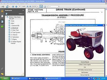 Bolens 1050 tractor manuals service parts owners manual