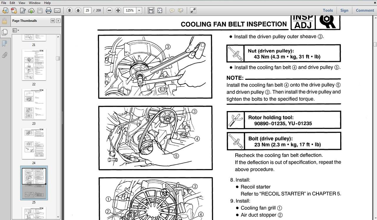 DOWNLOAD Yamaha Snowmobile Repair Manual 1982-2012