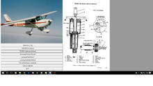 Cessna 100 series service maintenance manual 1963 thru 1968  D637-1-13