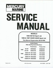 Sea Rayder Jazz  jet boat service repair manual 90 / 120  mercury sport jet