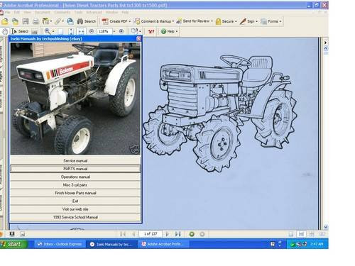 fmc bolens iseki service repair manual diesel g 152 154 172 tx1300 rh aeroteks com Yard Machines Tiller Yard Machines Tiller