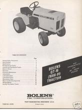 Bolens QT-16 tractor manuals service parts owners