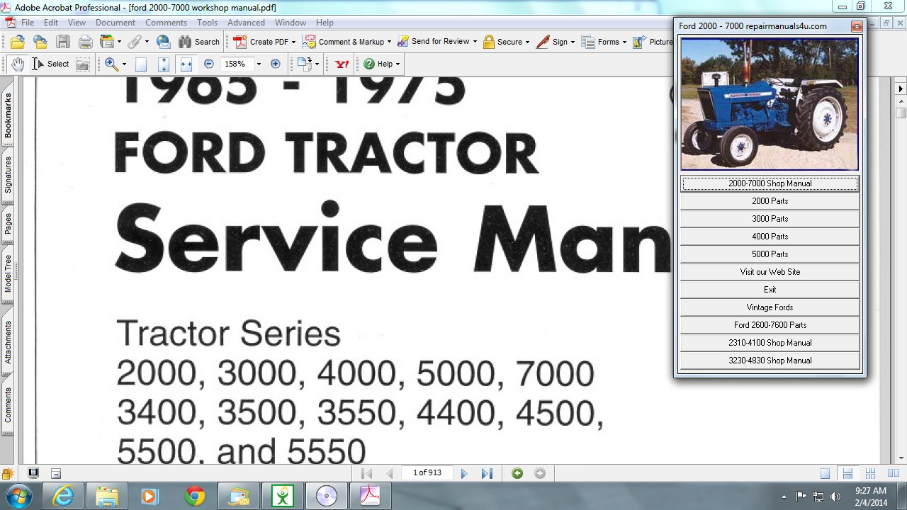 Ford 3230 Tractor Parts Diagram Wiring Tractors Service Manual 1280x720
