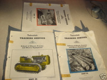 Vintage caterpillar D8 tractor service training manual
