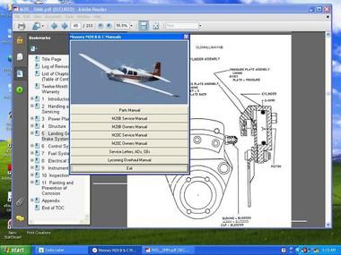Mooney ovation M20R service maintenance manual set