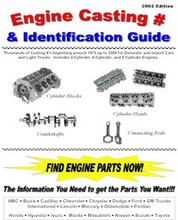 "Includes Hundreds of Block Numbers, Cylinder Head Numbers, Crankshaft Numbers, and Connecting Rod Numbers.  IMPORT & DOMESTIC Manufacturers  4 Cylinder, 6 Cylinder, and 8 Cylinder  Years start around 1975 up to 2000  LOOK! - Includes Bore & Stroke Specifications for each Engine  Brand New Book with 117 Pages, Comb Bound 8.5"" X 11"" Pages - TONS OF INFO!  Great for Swap Meets, Junkyards, Professional Mechanics, Do-it-Yourself Mechanic, Machine Shops, or ANYONE who needs to reference engine part #'s for blocks, cranks, rods, and heads!!!  Now you can I.D. Blocks, Cylinder Heads, Crankshafts, Connecting Rods and Lots More (by cross-referencing, matching similar engines, etc.) from the following: Domestic Vehicles: AMC, Buick, Cadillac, Chevrolet, Chrysler, Dodge, Ford, GM, International, Jeep, Lincoln, Mercury, Oldsmobile, Pontiac Import Vehicles: Honda, Hyundai, Isuzu, Mazda, Mitsubishi, Nissan, Suzuki, and Toyota.  You need this book!!!  With this book you will be able to identify the original parts listed above by Part Numbers or Casting Number. A wealth of information in this Great Collection."
