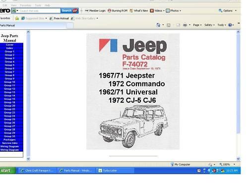 jeep factory parts manual jeepster commando cj. Black Bedroom Furniture Sets. Home Design Ideas