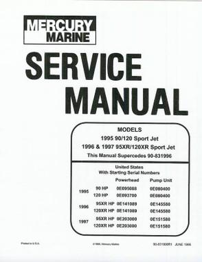 mercury marine 90 120 jet drive service repair manual sport jet rh aeroteks com Mercury Outboard Repair Manual Mercury Wi-Fi ManualsOnline