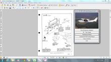 Cessna 210 Centurion maintenance service manual set + engine 1960 - 1969