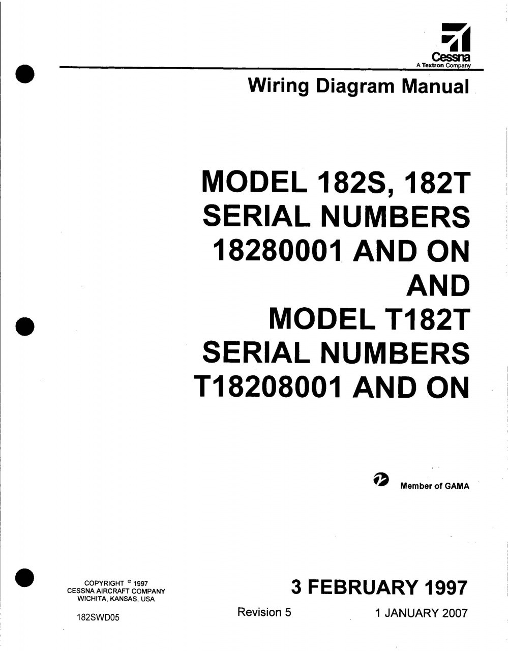 Cessna 150 Electrical Wiring Diagram Trusted Diagrams 182 Manual 182s 182t 182swd Download Alternator