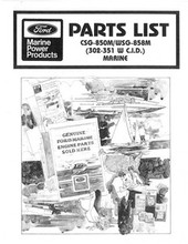 This is a manual on a CD in pdf format . Master indexed and bookmarked for easy navigation    This is a very rare ford marine 302 351  engine maintenance service manual, revision oct 1988  YOu can print , read or zoom in and out. Ford marine & industrial service repair manual 302  351 boat motors mercuriser OMC