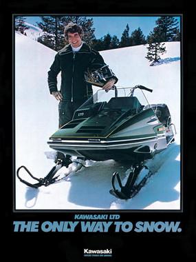 kawasaki astro  snowmobile service repair  manual  1977 340 440