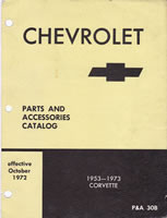 1953 - 1973 Chevrolet corvette factory parts manual