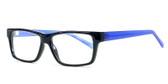 Soho 1017 in Matte Black Designer Eyeglasses :: Rx Bi-Focal