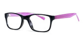 Soho 122 in Black-Purple Designer Eyeglasses :: Rx Bi-Focal